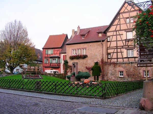 Turckheim (Туркхайм), Эльзас - путеводитель, что посмотреть вокруг Кольмара и Страсбурга, самые красивые города и деревни Эльзаса. Окрестности Кольмара.